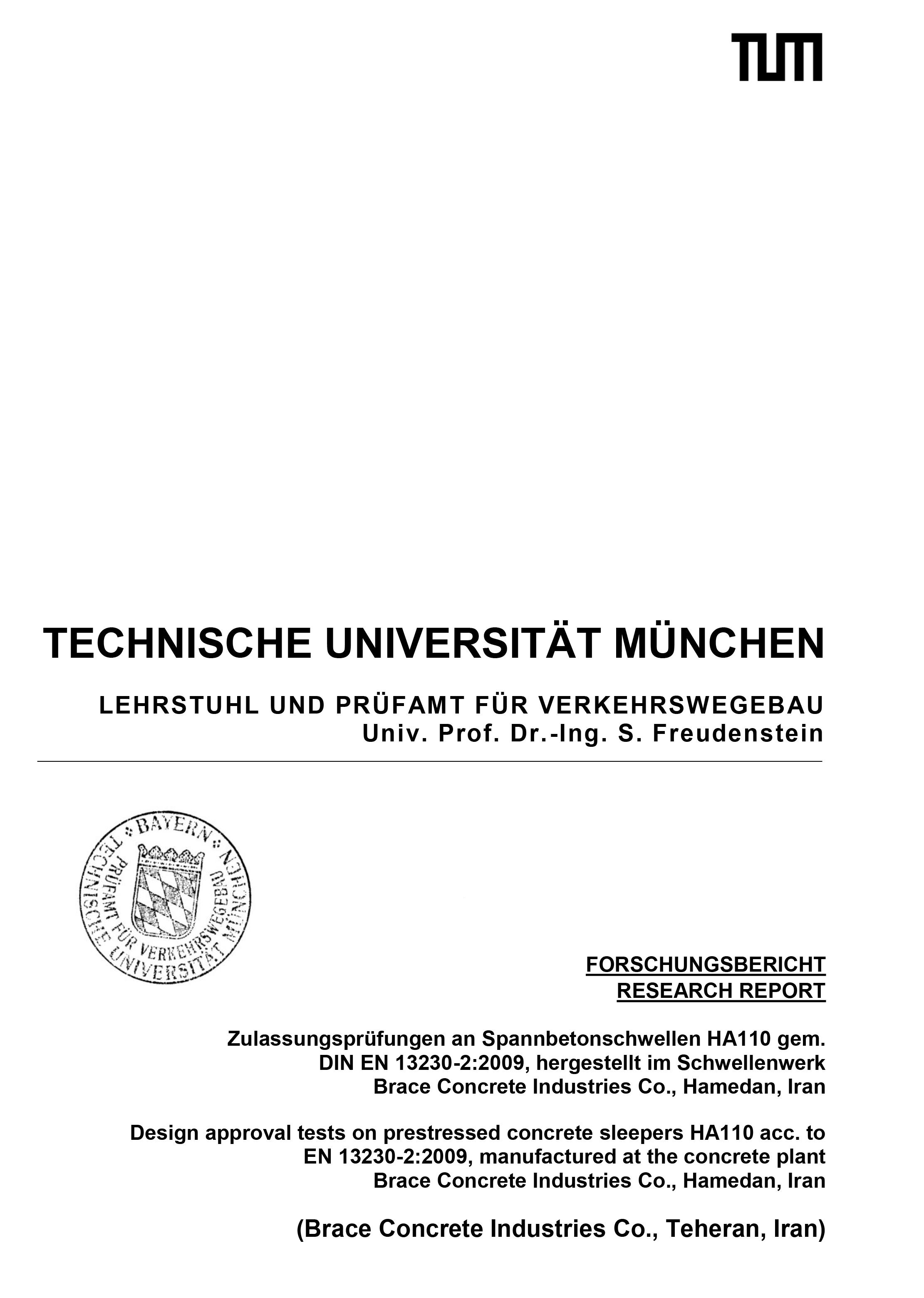 Certificate Of University of Munich – HA110