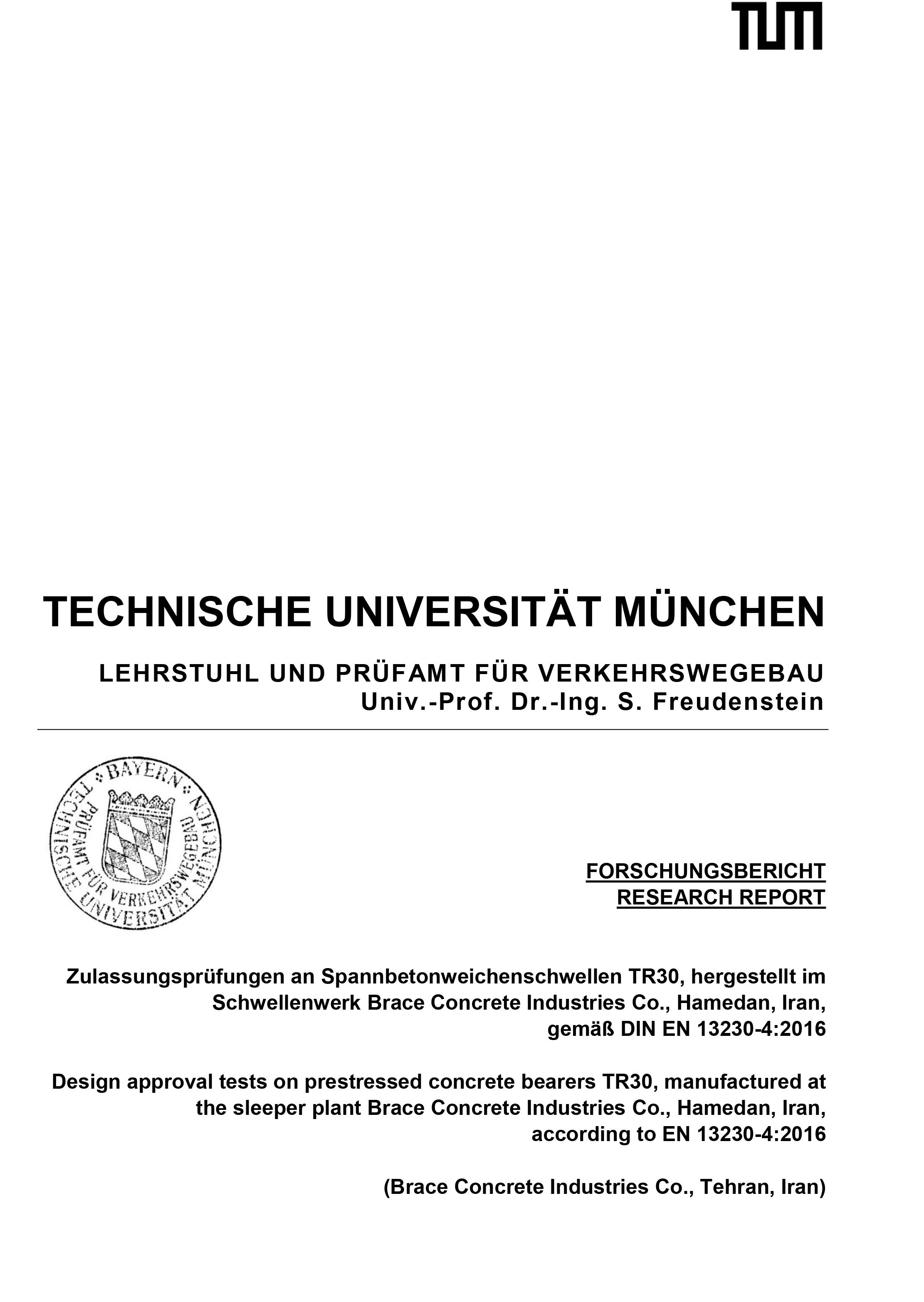 Certificate Of University of Munich – TR30